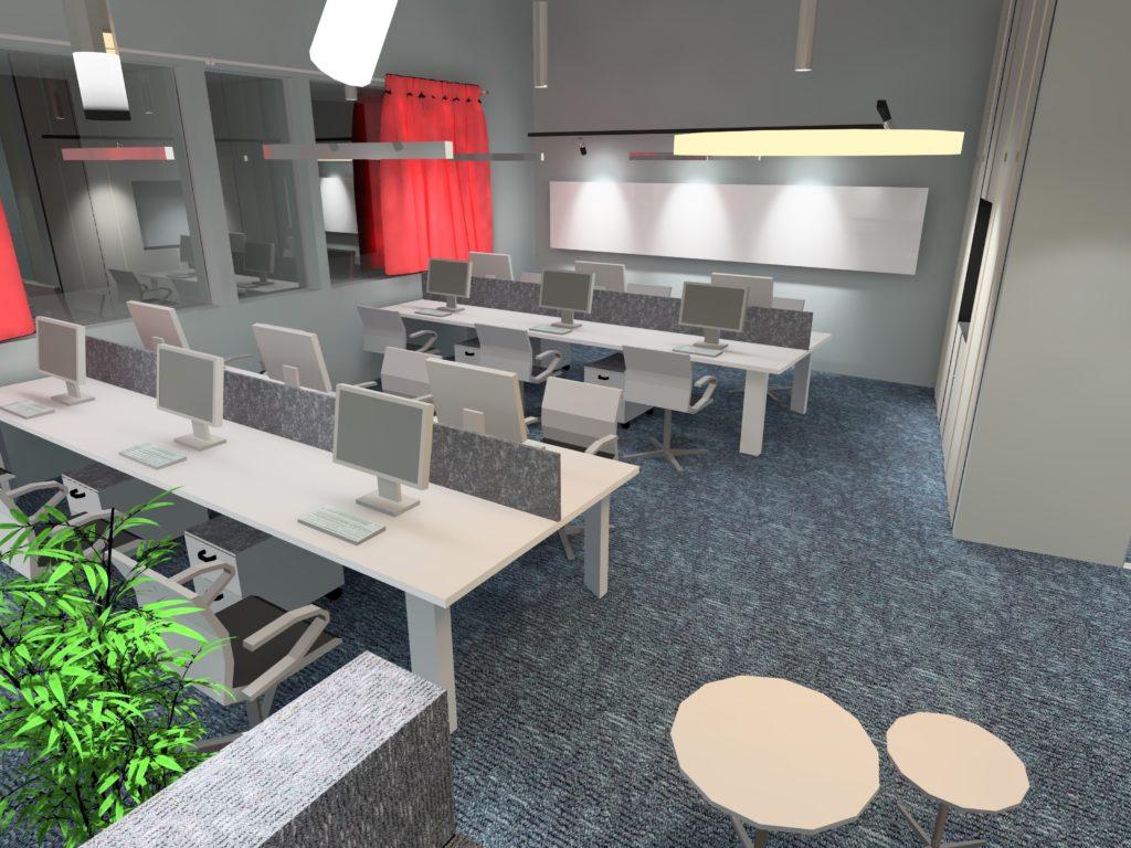 SBR - irodai világítástervezés - 3D látvány