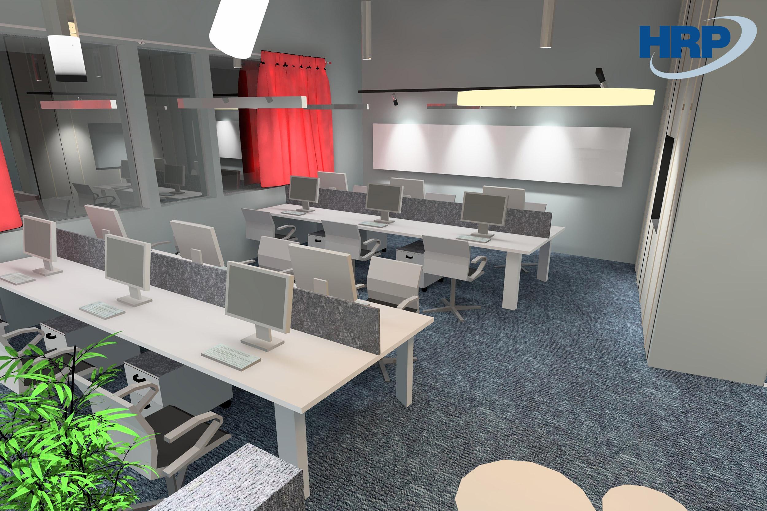 BSR irodai világítás 3D látvány