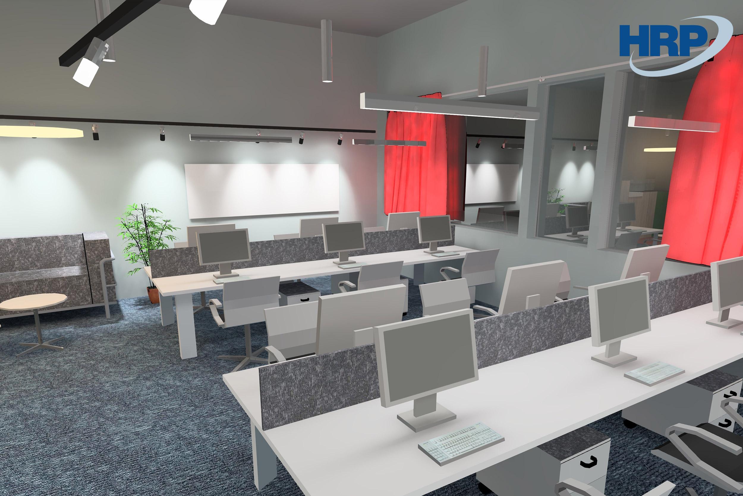 BSR irodai világítás 3D látványtervezés