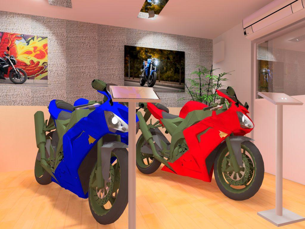 Motorbolt - Bolt világításterv - 3D látvány